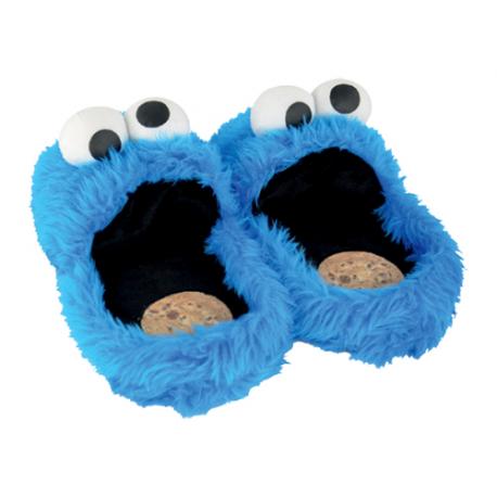 Sesame Street Cookie Monster Slippers.