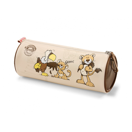 Nici Vulture & Lion Barrel Pencil Case.