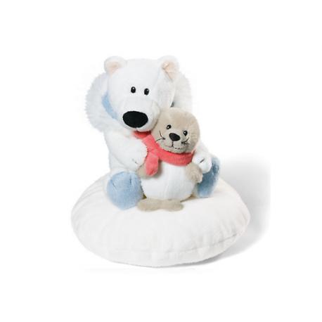 Peluche con cojín Urso polar & Seal de Nici.