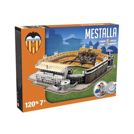 Puzzle 3D Mestalla del Valencia C.F.