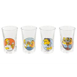 Estuche 4 chupitos de Los Simpsons.