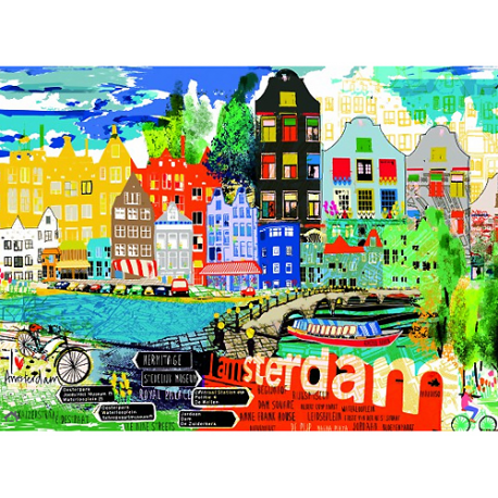 I Love Amsterdam! 1000 pieces puzzle.