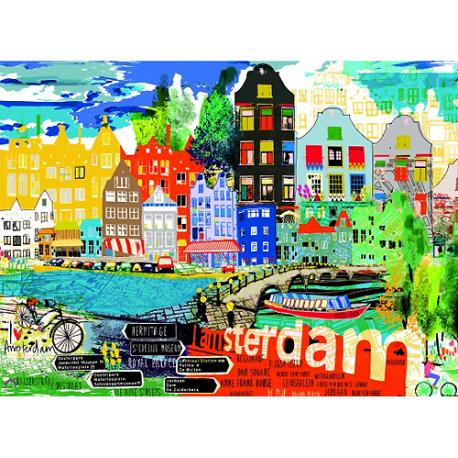 Puzzle de 1000 pièces I Love Amsterdam!.
