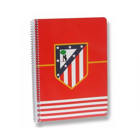 Cuaderno espiral dina A4 del Atlético de Madrid.