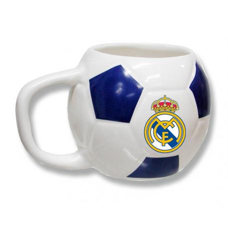 Taza mug porcelana del Real Madrid.