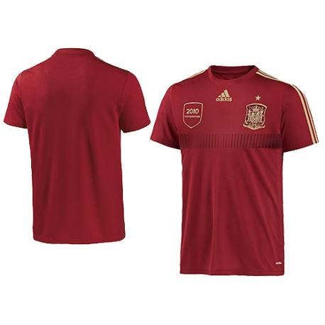 Camiseta oficial 1ª equipación réplica Selección España 2014.