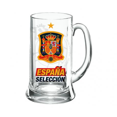 Jarra de cerveza mediana de la Selección de España.