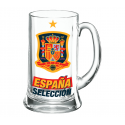 Jarra de cerveza XXL 1 litro de la Selección de España.