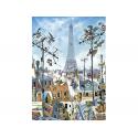 Puzzle de 1000 pièces Eiffel Tower.