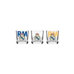 Set de 3 petit verre Real Madrid.