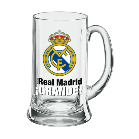 Jarra de cerveza XXL 1 litro del Real Madrid.