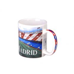 Taza mug porcelana del Atlético de Madrid.