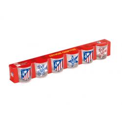 Set de 6 petit verre Atlético de Madrid.