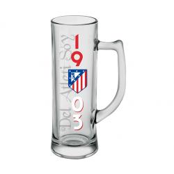 Jarra de cerveza 500 CL del Atlético de Madrid.