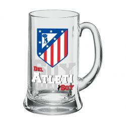 Jarra de cerveza XXL 1 litro del Atlético de Madrid.