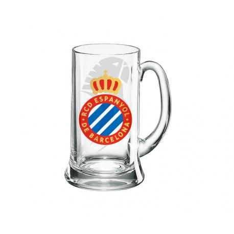 Jarra de cerveza mediana del R.C.D.Espanyol.