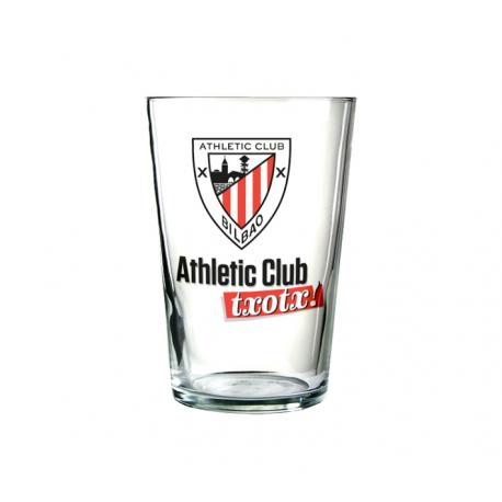 Vaso de sidra del Athletic de Bilbao.