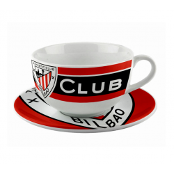 Tazón y plato porcelana del Athletic de Bilbao.