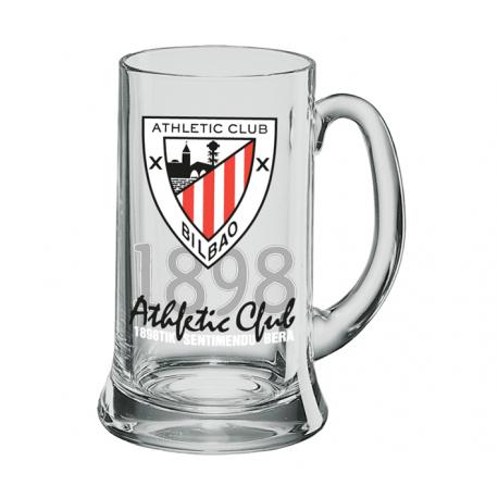 Jarra de cerveza XXL 1 litro del Athletic de Bilbao.