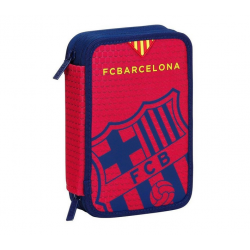 Plumier doble pequeño del F.C.Barcelona.