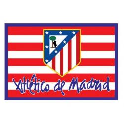Bandera del Atlético de Madrid.