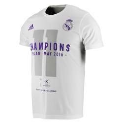 T-Shirt Real Madrid Champions 2016 adulte.