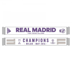 Real Madrid Scarf Champions of Europe 2016.