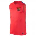 Camiseta entrenamiento sin mangas adulto F.C. Barcelona 2016-17.