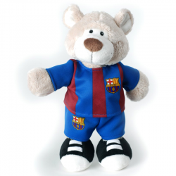 F.C.Barcelona Bear 35 cm. Plush doll.