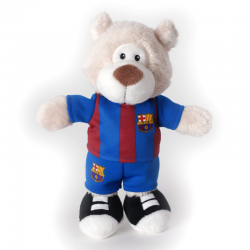 F.C.Barcelona musical Bear 20 cm. Plush doll.