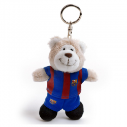 F.C.Barcelona Plush toy bear keyring.
