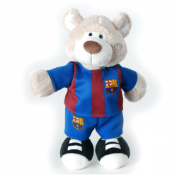 F.C.Barcelona Bear 25 cm. Plush doll.