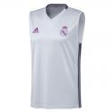 Camiseta entrenamiento sin mangas adulto Real Madrid 2016-17.