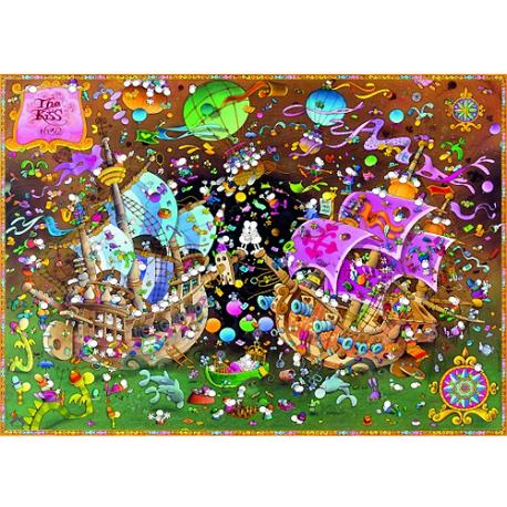 Puzzle de 2000 pièces The Kiss.