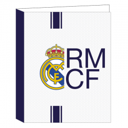 Carpeta folio 4 anillas del Real Madrid.