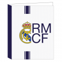 Carpeta folio 4 anillas del Real Madrid.