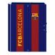Carpeta de gomas y solapas del F.C.Barcelona.