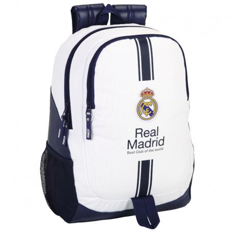 Mochila multibolsillos del Real Madrid.