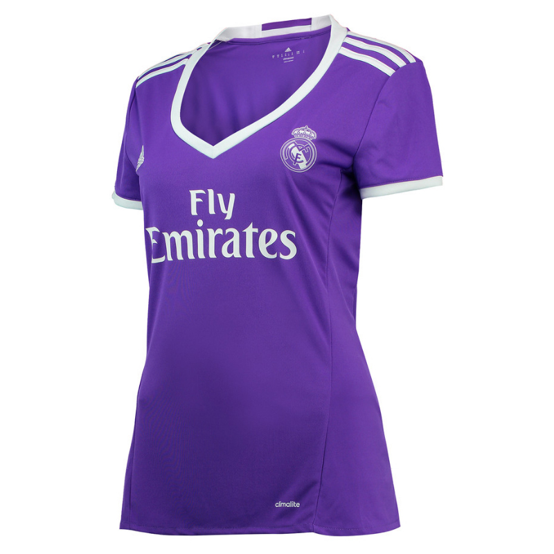 Maillot real madrid exterieur 2016 17 femme forofos for Maillot exterieur