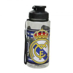 Botella plástico del Real Madrid.