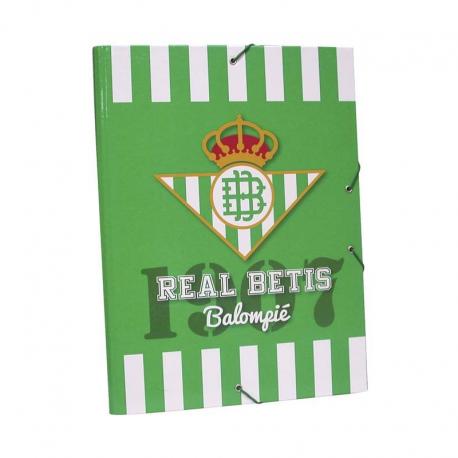 Carpeta de gomas y solapas del Real Betis.