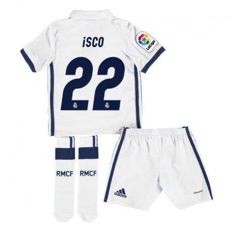Kit niño 1ª equipación Isco Real Madrid 2016-17.