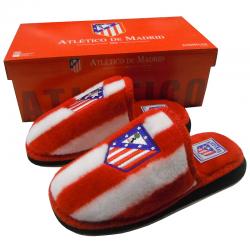 Zapatillas de estar por casa del Atlético de Madrid.