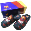 F.C.Barcelona Slippers at home.