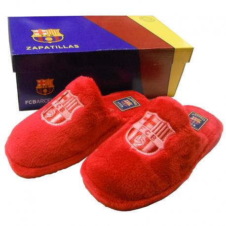 Zapatillas de estar por casa para mujer del F.C.Barcelona.