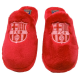 F.C.Barcelona Woman Slippers at home.