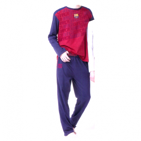 Pyjama adultes F.C.Barcelona manches longues.