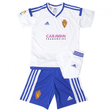 Conjunto niño 1ª equipación Real Zaragoza 2016-17.