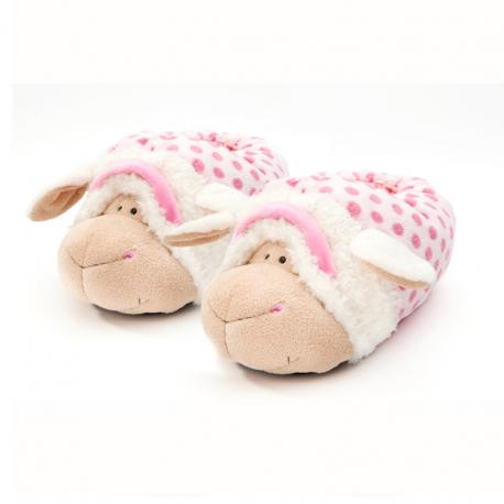 Zapatillas de estar por casa de oveja de Nici.