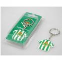 Llavero de metal del Real Betis.